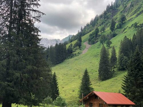 Anhöhe im Allgäu bei Bad Oberdorf/Hindelang