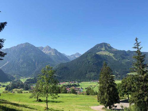 Blick auf die Ortschaft Bad Oberdorf/Hindelang