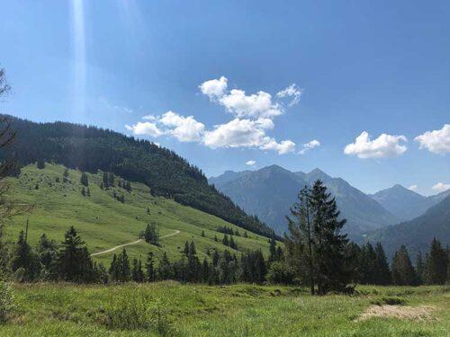 Panorama bei Bad Oberdorf/Hindelang